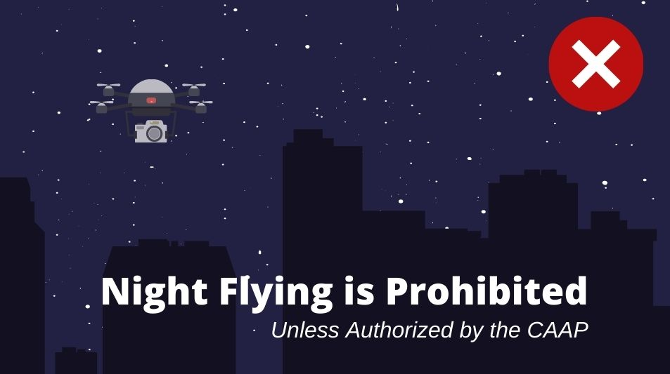 Drone Safety Night Flights are Not Allowed Without Permits